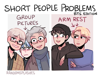 BTS: THE SHORTEST ONE(S) IN THE GROUP... by Randomsplashes