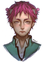 Saiki Kusuo fan art by morgyuk
