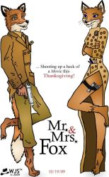 Mr. and Mrs. Fox by wolfjedisamuel