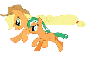 Mother-Daughter Race by EmoshyVinyl