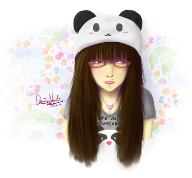Self-portrait: Panda love~ by thekawaiione