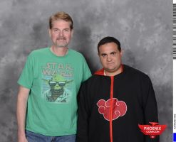 Myself with Tom Kane Voice of monkey fist by montrain101