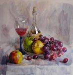 Still Life with grapes by Andrei-Pervukhin