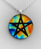Elemental Pentacle Fused Glass by HoneyCatJewelry