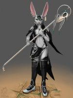 Rabbit Priestess by HornedStorm