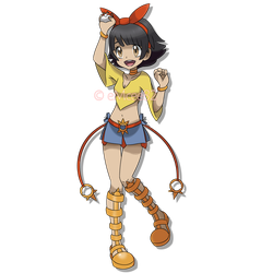 Josie Rizal as a Pokemon Trainer by eMCee82