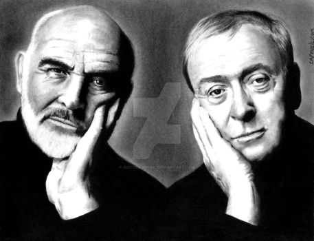 Sean Connery and Michael Caine by Doctor-Pencil