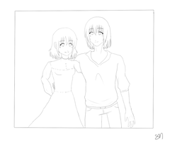 Howl y Sophie. Collab by SayokoItomi