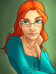 Colouring Practice - Bookworm by Cleonor