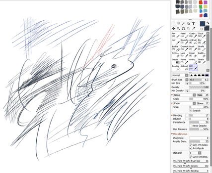 Bic Ballpoint Pen Brush for Paintool Sai by cgmodeler