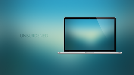 UNBURDENED - Coloured Expression Wallpapers by Ecstrap