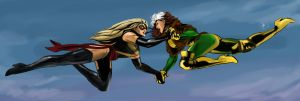 Ms Marvel vs. Rogue by Nia90