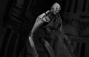 0141 - Robot Lost In Factory by Robotpencil