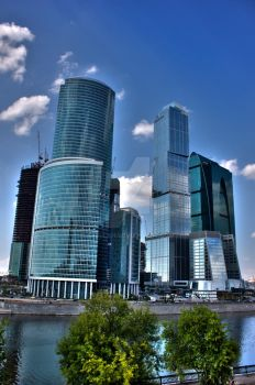 moscow city by Skellah