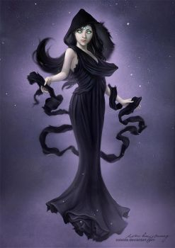 Night mother by Zolaida