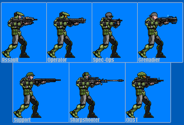 Halo Marines Sprite Preview by Drakojan14