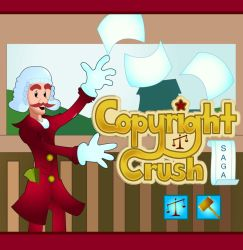 Copyright Crush Saga by RobMacIver