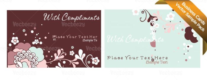 Sample Business Card Vectors by Vecteezy