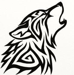 Tribal Wolf Avatar by Hareguizer