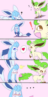 Some Glaceon X Leafeon Ship by HaxusSora97
