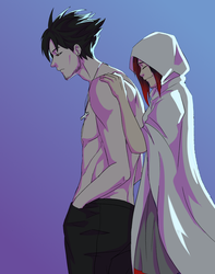 Qrow And Summer Rose by shana340