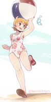 Lotte at the beach by BoarsBoarsBoars