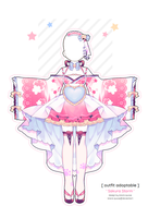 [CLOSED] Sakura Storm Outfit Adopt | Auction by Black-Quose
