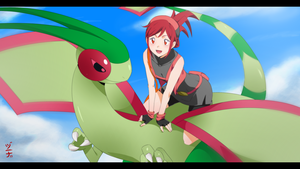 Anonymous Commission - OC Garnet and Flygon by dannex009