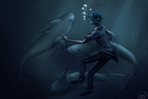 Meet the sharks by GarnetDawn