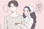 Levi ~ Giselle - Cooking Problems by milkcupie