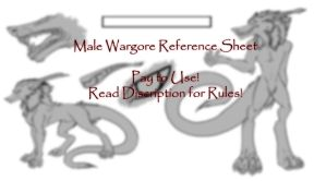 Male Wargore Ref Sheet :PAY TO USE: by SafireCreations