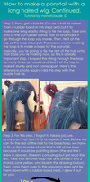 Ponytail wig tutorial part 2 by monetclaude
