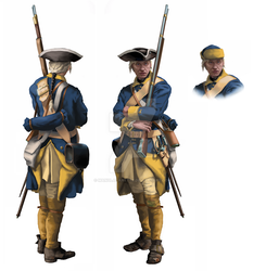 Swedish private (1700-1721) - Front and back view by ManuLaCanette