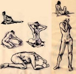 Life Drawing 10 min pose by eterna2