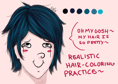 Realistic Hair-Coloring Practice~ by Ncproductionsrule