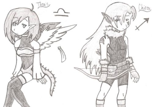 Themis and Chiron by WavesofChaos