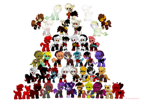 All Underfell Characters in Pony Town by GAMERBLOoReN