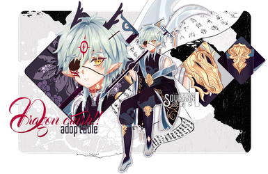 [CLOSED TY!] Azure Dragon Adoptable Auction by Sourann