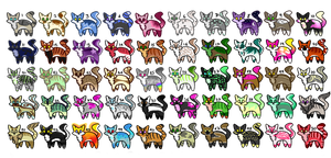 Cheap 50 Feline Cat Adopts (20/50 OPEN) (Part 1/2) by Watermelon-Foxes