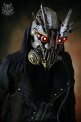 demontech rouge cyberpunk mask by TwoHornsUnited