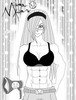 Miora Han Anatomy---Black and White by Zecrus-chan