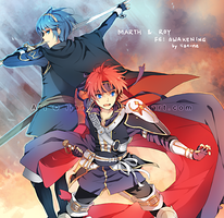 Marth and Roy by lian-ne