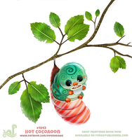 Daily Paint 1843# Hot Cocoaoon by Cryptid-Creations