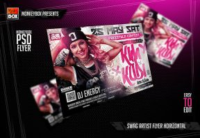 Swag Artist Flyer Horizontal by AndyDreamm