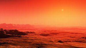 Exoplanet Red Strata by macsix