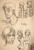 Petros and Shiloh sketchs (17-20 ages old) by HRandt