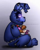 Nightmare Bonnie and Kazuka by menta-RR-66