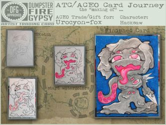 ACEO Journey - HackSaw process by dumpsterfiregypsy