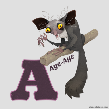 A is for Aye-aye by WonderDookie