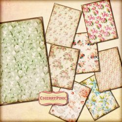 VINTAGE FLOWER for digital scrapbook by miabumbag